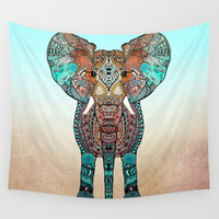 ElePHANT Wall Tapestry by Monika Strigel