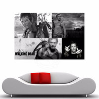 Walking Dead Daryl Dixon Iconic Character Middle Finger Bow Arrow Pose Wall Silk Poster Fabric Display