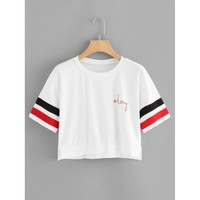 Okay Crop Tee - White