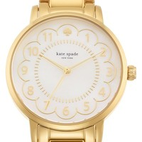 Women's kate spade new york 'gramercy' scalloped dial bracelet watch, 34mm - Gold