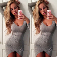 Halter Strappy Split Tight Bodycon Mini Dress