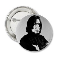 Severus Snape Arms Crossed Pinback Button from Zazzle.com
