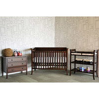 Walmart: Baby Mod - Ava Fixed Side Crib with adjustable Mattress Height, Changing Table and 3 Drawer Dresser Bundle, Espresso