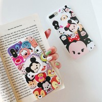 Funny Cartoon Minnie Mickey Mouse Soft Phone Case For Coque iPhone XR XS MAX 8 7 6s plus Girl Cover With Expanding Stand Holder