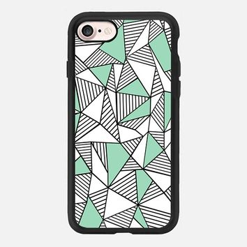 Abstraction Lines Mint Blocks iPhone 7 Case by Project M | Casetify