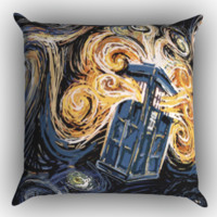 Doctor who Starry Zippered Pillows  Covers 16x16, 18x18, 20x20 Inches