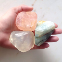 Set of 3 Small Assorted 1.5 to 2oz Mineral Gem Soaps