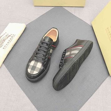 Burberry Men Fashion Boots fashionable Casual leather Breathable Sneakers Running Shoes06090gh