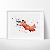 Harry Potter Watercolor Art Print