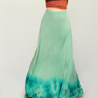 Tie Dye Maxi Skirt - Ombre Maxi Skirt - Aline Skirt - Ombre Dyed Tie Dyed Long Skirt - Full Flowing Loose Fit Skirt Sizes XS, S, M, L, XL