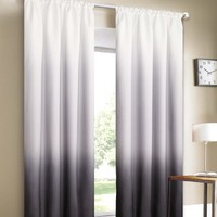Dainty Home Shades 2-Window Panel Rod Pocket Set, 40 by 84-Inch, Black