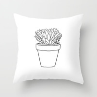 Plant Babies B&W Throw Pillow by Gretchen M.