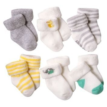 JUST ONE YOU Duck NBB 6pk Terry Cuff Duck - 0-3 M