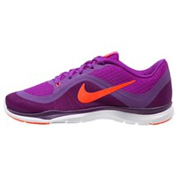 Nike Performance FLEX TRAINER 6 - Sports shoes - hyper volt/total crimson/purple - Zalando.co.uk