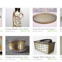 Silver & Gold ~ by Tanya on Etsy