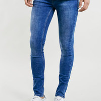 BRIGHT MARBLE WASH SPRAY ON SKINNY JEANS - Men's Jeans - Clothing
