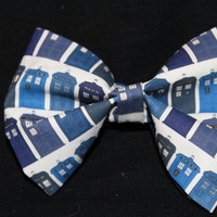 TARDIS Through the Years Doctor Who Inspired Hair Bow - Bowties are Cool