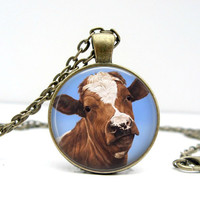 Brown Cow Necklace