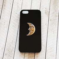 Silver iPhone 5 Case Moon Cell Phone Case iPhone 4 Case iPhone 5s Case iPhone 5 Case Black iPhone 5 Cover Black Galaxy S3 Cover Moon
