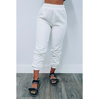 Lounge Time Joggers: White