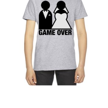 Game Over - Wedding Bride and Groom - Youth T-shirt
