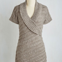 Mid-length Sleeveless The Layer the Land Sweater in Mushroom