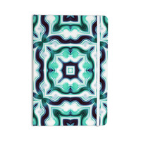 "Dawid Roc "" Vintage Flower Pattern 3"" Green Abstract Everything Notebook"