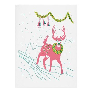 Betsy Olmsted Holiday Deer Art Print