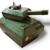 Cat Playhouse Cardboard Tank | Cat Toys and Scratching Posts | Cat Products | Omlet