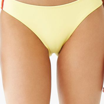 Striped-Trim Bikini Bottoms