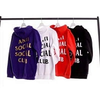 ANTI SOCIAL CLUB Fashion Casual Long Sleeve Sweater Pullover Sweatshirt G-KAN-TK