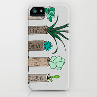 Succulent Wine Cork Print iPhone & iPod Case by Georgie Pearl Designs | Society6