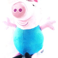 "Entertainment One Peppa Pig Girls Pink & Blue 13.5"" Plush"