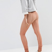ASOS Washed Leggings with Seaming at asos.com