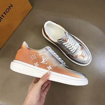 LV Louis Vuitton  Men Fashion Boots fashionable Casual leather Breathable Sneakers Running Shoes0523em