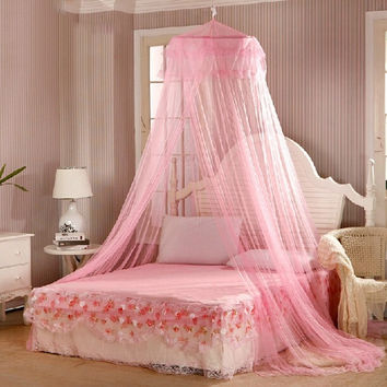 60*250*850cm Elegant Round Lace Insect Bed Canopy Netting Curtain Dome Mosquito Net New House Bedding Decor Summer Product = 1945811076