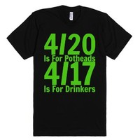 4/17 is for Drinkers-Unisex Black T-Shirt