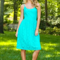 EVERLY:A Striking Presence Dress-Mint