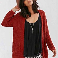 Ecote Textured Open-Front Cardigan