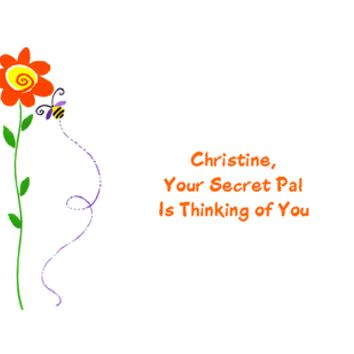 Thinking of You Printable Card: 'From Your Secret Pal'