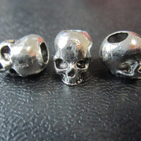 1PC Silver skull Dreadlock beads dread Hair Braid Jewelry Accessories 5mm hole