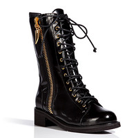 Giuseppe Zanotti - Leather Lace Up Boots in Black