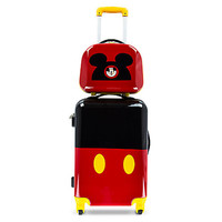 Disney Parks Mickey Mouse Stacked Rolling Luggage And Travel Case 26'' New