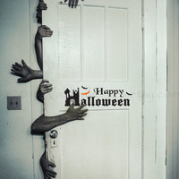 Happy Halloween vinyl wall decal, wall art