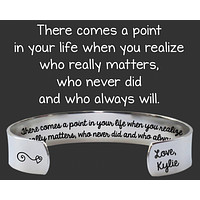 There Comes A Point In Your Life Bracelet   Bridesmaid Gift