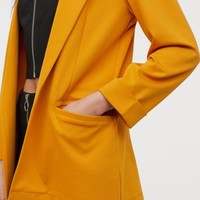 Jersey Jacket - Mustard yellow - Ladies | H&M US