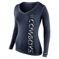 Nike Warpspeed Mid-V Long-Sleeve (NFL Cowboys) Women's T-Shirt