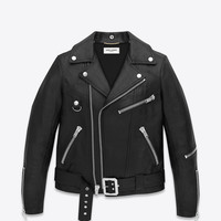 Saint Laurent Motorcycle D Ring Jacket In Black Leather | ysl.com