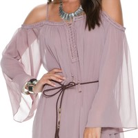 SWELL NEPTUNE COLD SHOULDER DRESS
