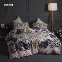 Egyptian cotton 3D Luxury Bedding Set King Queen size Bed set Bohemia Duvet Cover Bed Sheet set Bedlinen Pillowcase
